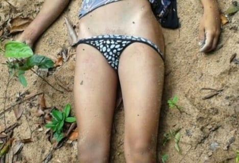 【閲覧注意】川にレ●プされた女の子が捨てられてた ⇒ その姿がかわいそうすぎる(画像あり)