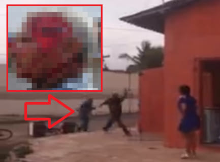 【閲覧注意】「この喧嘩動画」で負けた方の画像ヤバすぎワロタ…(画像あり)