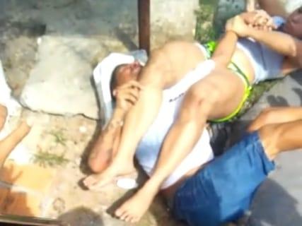 【強すぎ】ブラジリアン柔術を習ってる女さん、自分を襲ってきた男をこうしてしまう…