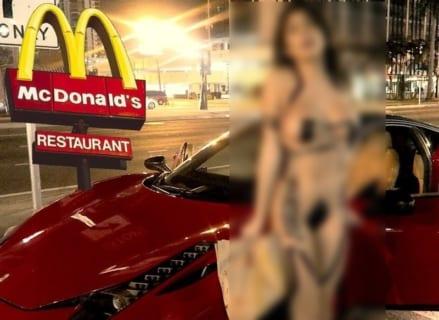【エロ注意】女さん、とんでもない格好でマクドナルドに現れてしまう…