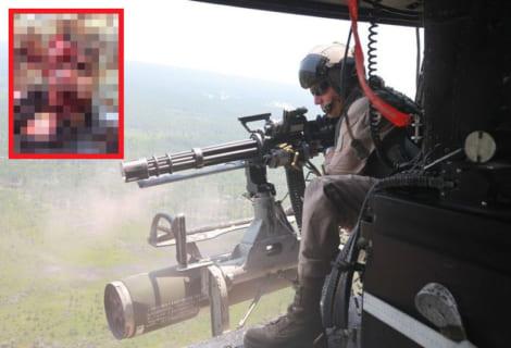 【閲覧注意】世界最悪ギャングのリーダー、軍の戦闘ヘリに蜂の巣にされこうなる・・・(動画あり)