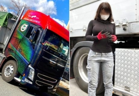 【画像】海外サイトで日本のトラック運転手♀がエッチすぎると話題に!!!