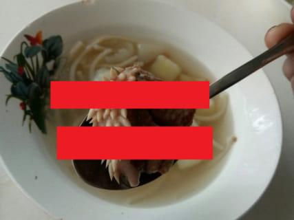 【画像】小学校の給食に「エイリアンの肉」。これなんなんだよ、本当にヤバイなどの声