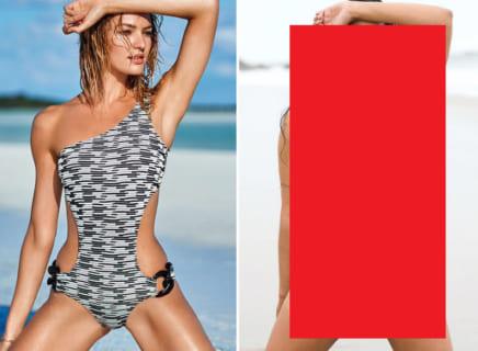 普通の女の子がスーパーモデルと同じ水着を着て並んだ写真クソワロタwwwwww