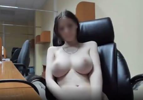 【動画】同僚の女がオフィスで1人になった時にエロ配信してたの見つけたんだが…