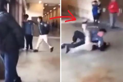 【動画】いじめっ子、いじめられっ子が「実は強い」事に気付かずこうなるwww