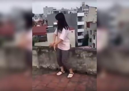 【衝撃】屋上でダンス踊ってるインスタ女子高生が落ちて死んでしまう動画・・・