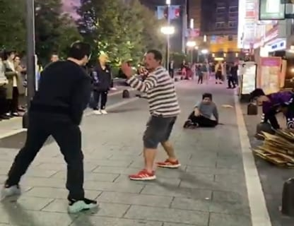 【動画】歌舞伎町で外国人と日本人が喧嘩する動画 ⇒ 圧倒的にコッチが強かった…