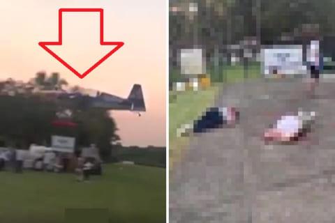 【閲覧注意】レッドブルの飛行機が墜落。地上にいた観客の姿がアカン…(動画あり)