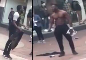 【動画】筋肉ムキムキのDQNの路上喧嘩 ⇒ ダサすぎる結果にwwwww