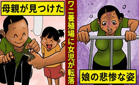 【閲覧注意】ワニ園に2歳の女の子が落下 ⇒ 10分後、恐ろしい姿になる…(画像あり)