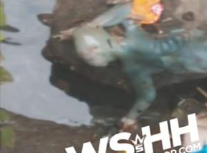 """【超恐怖】川で """"地球外生命体"""" を見つけた。ちょっとこれ見てくれ…(動画あり)"""