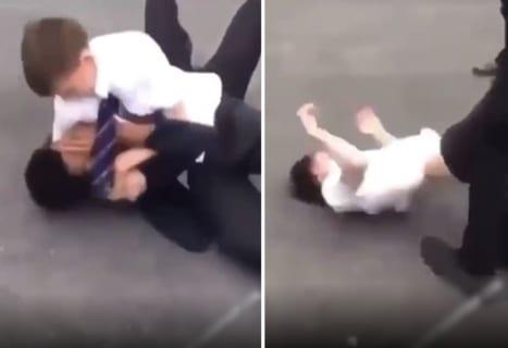 【神動画】自閉症の高校生をボコボコにしてるイジメっ子、そこにヒーローが現る…!