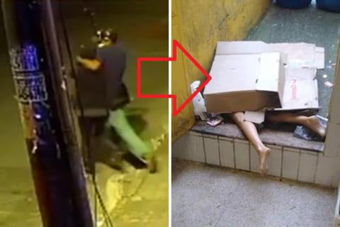 20代女性の路地裏レイプ殺人事件の監視カメラ映像、怖すぎるだろ・・・