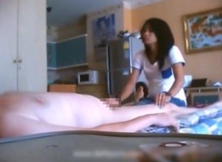 【ガチ動画】タイのマッサージに行った男さん、ビクビクで射精してしまうwww