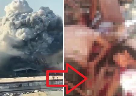 【閲覧注意】レバノンの爆発で「この動画」を撮ってた夫婦 ⇒ その後の姿がヤバすぎた…