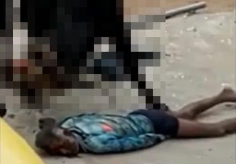 【閲覧注意】街中でとんでもない生物に殺されてる男が発見される。絶対に助けられない…