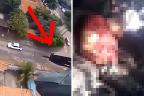 【閲覧注意】車で逃走中の現金強盗4人、特殊部隊のヘリコプターにエゲツナイ姿にされる