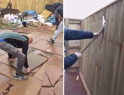 【動画】庭師、100万円の造園完成後に支払い拒否され、「今からぶっ壊す」wwwww