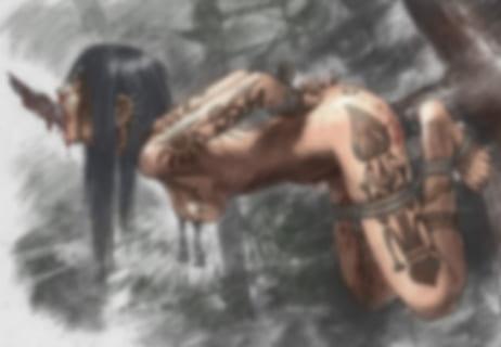 """【閲覧注意】女子高生さん """"儀式の生贄"""" にされ、ヤられまくる・・・(画像)"""