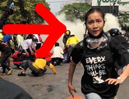 【閲覧注意】ミャンマーのデモで頭を撃ち抜かれた19歳の少女をご覧ください…
