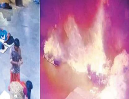 【閲覧注意】女が生きたまま「火あぶりの刑」に処される動画が世界中で話題に