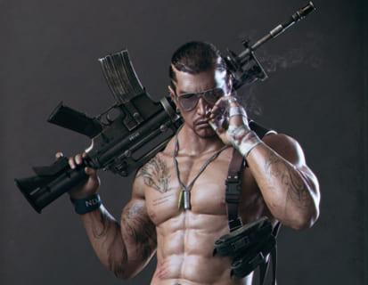 """【閲覧注意】銃を持ったギャング2人を3秒で抹殺した """"最強の男"""" の動画、ガチで凄い"""