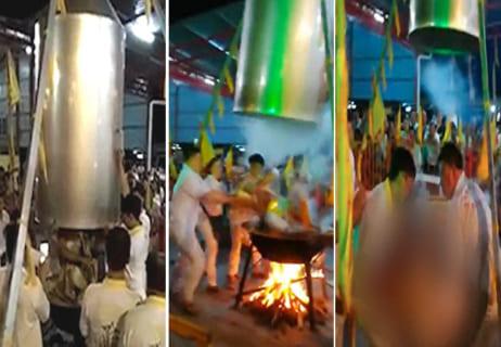 【閲覧注意】インドの神「私は沸騰した水に入っても死なない」⇒ ガチで沸騰した水に入れた結果…