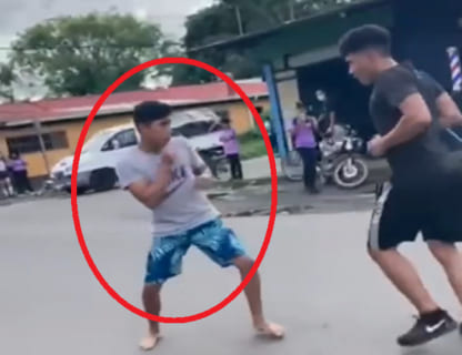 【喧嘩】ボクサー高校生 VS ヤンキー高校生、どっちがボコボコにされるかをご覧ください…