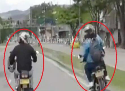 """【衝撃】バイク乗りDQNさん、煽った相手が """"超ヤバい奴"""" でこうなる・・・"""