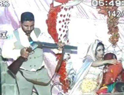 【狂気】イランの結婚式でショットガンを持ち込んだ男。今からヤバい事が起こります…