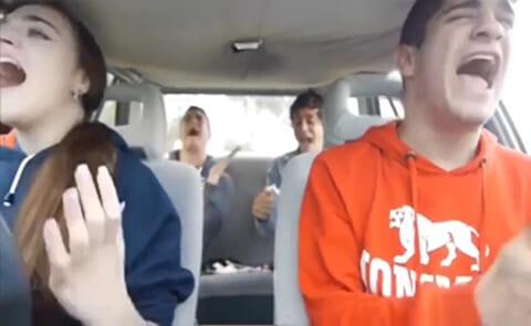 【衝撃映像】DQN男女4人「自撮り配信中でーす」 ⇒ この後全員死亡します…