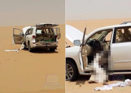 【閲覧注意】高級車が砂漠で立ち往生 ⇒ 7日後発見された時の姿がヤバい…(GIFあり)
